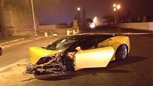 Roma, Keita sfascia la Lamborghini I campioni, un pericolo al volante