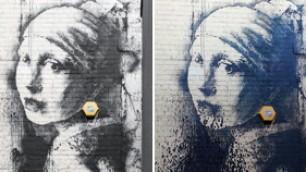 L'ultimo Banksy dura poche ore rovinata 'La ragazza' di Vermeer