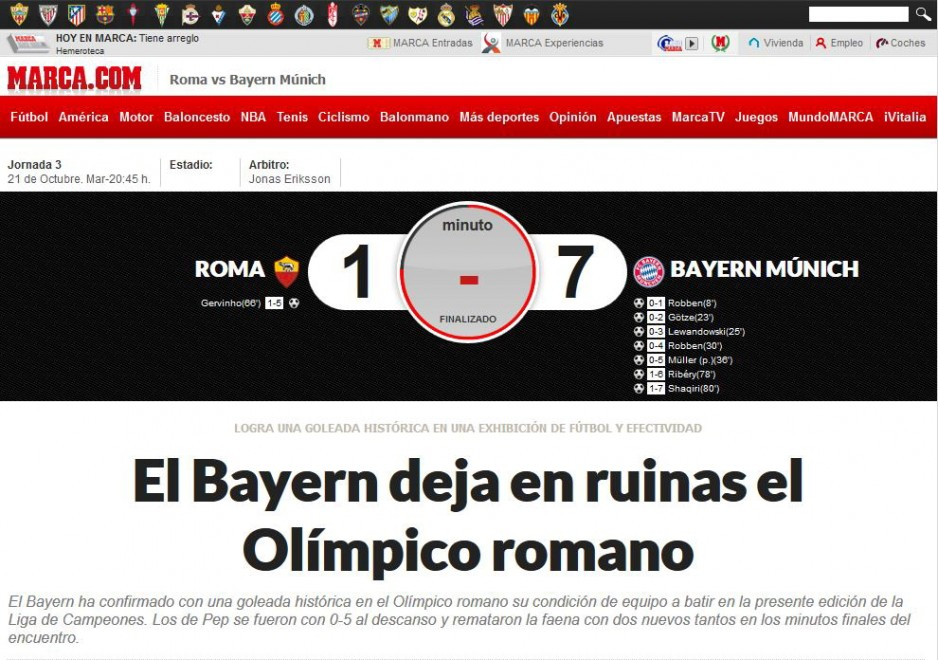 Roma-Bayern Monaco, la notizia sui siti stranieri
