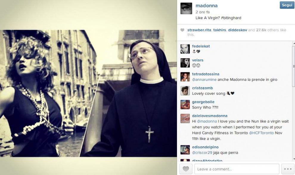 """Madonna scopre Suor Cristina: """"Sorelle per la vita"""""""