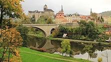 Marienbad, Karlovy Vary Terme boeme d'autunno     Foto   Il triangolo d'oro