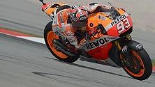 Marquez in pole a Sepang Rossi in seconda fila