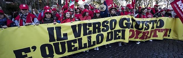 La Cgil in piazza contro il Jobs Act. Camusso: Sciopero generale, avanti con tutte le forme necessarie