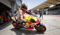 Marquez in pole position Seconda fla per Rossi