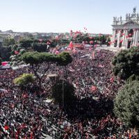 Manifestazione Cgil, il corteo visto dall'alto
