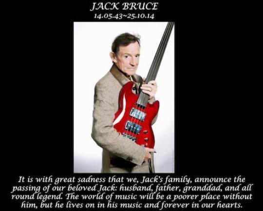 Jack Bruce, fine di un'epoca, muore il bassista dei Cream