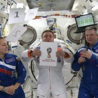 """Arriva dallo spazio il logo mondiale di """"Russia 2018"""""""