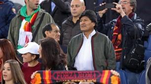 Il cuore giallorosso di Evo Morales