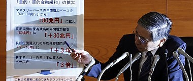 La BoJ stupisce i mercati: nuovi stimoli I listini volano, lo spread giù verso 150