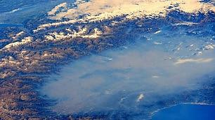 La pianura è blu, colpa dello smog
