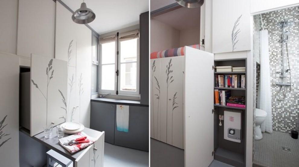 Parigi, il mini appartamento di 8 mq si trasforma ...