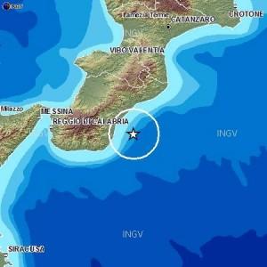 Terremoto di magnitudo 2.7 davanti alle coste calabresi