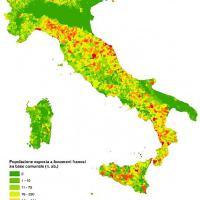 Mappa: gli italiani a rischio frane