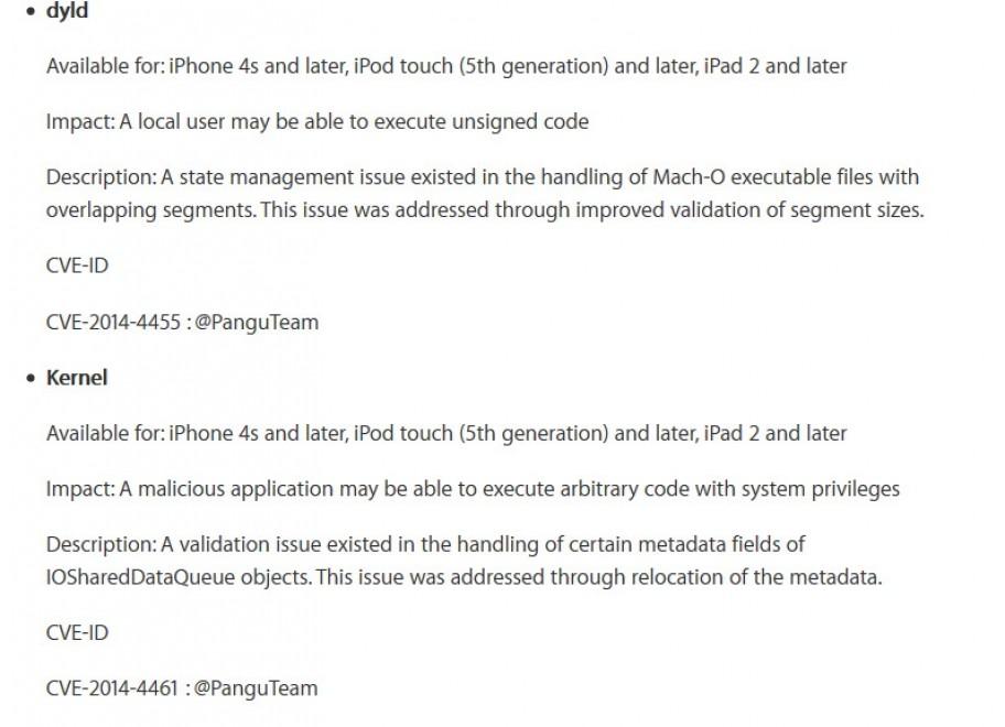Apple ringrazia i jailbreaker cinesi di Pangu Team
