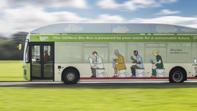 Il Bio Bus che viaggia con gli scarichi di fogna