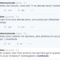 Milan-Inter, su Twitter il derby giapponese tra Honda e Nagatomo