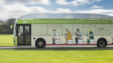 Non possiamo proprio dirvi con che benzina viaggia questo bus