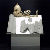Eternit, la provocazione dello street artist: anche Snoopy ucciso dall'amianto