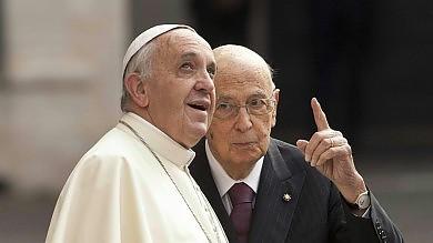 Napolitano per oltre un'ora dal Papa Il congedo in vista delle dimissioni