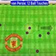 La statistica è inverosimile Van Persie: 12 tocchi in 75'