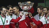 Davis, Federer trascina  la Svizzera al trionfo   foto