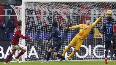 Derby in diretta Milan-Inter 1-0