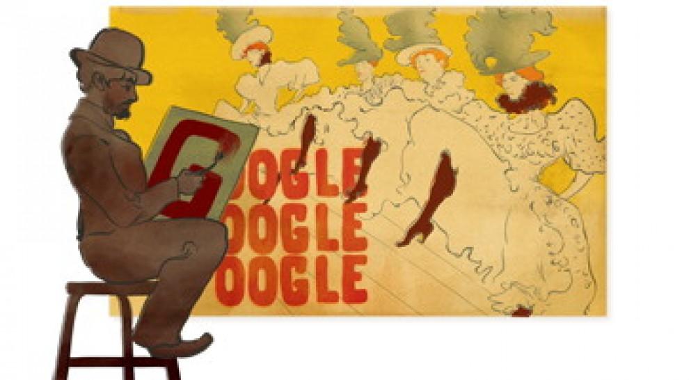 Il doodle per i 150 anni dalla nascita di Toulouse-Lautrec