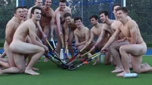 Squadra di hockey a nudo Atleti contro l'omofobia