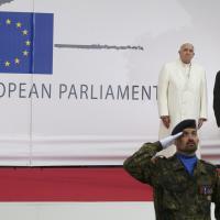 Strasburgo, Papa Francesco parla all'Europarlamento