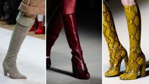 Alti, anzi altissimi ma con il tacco comodo: i nuovi stivali