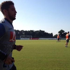Napoli, Mertens corre verso la Sampdoria. In Europa League sarà turnover