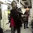 Protesta nel metrò   Danza senza velo