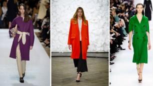 Le tendenze dell'inverno: cappotti colorati  |  stivali altissimi  |  guanti gioiello