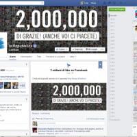 """Due milioni di """"mi piace"""", il record di Repubblica. it"""