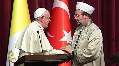 """Turchia, Papa Francesco da Erdogan   """"Stessi diritti per tutte le religioni"""""""