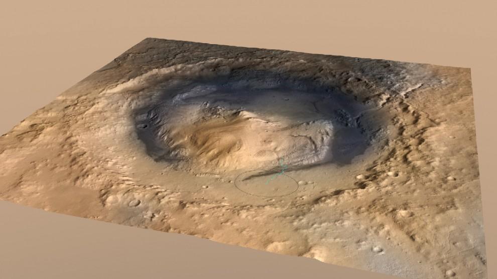Marte, Curiosity e il mistero del lago
