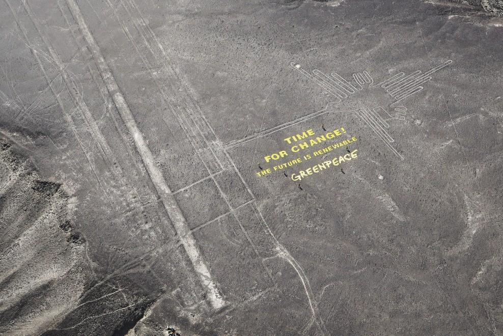 Blitz sulle ''Linee di Nazca'': la rabbia del Perù e le scuse di Greenpeace