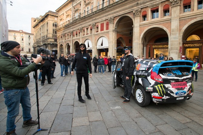 Ken Block al Motor Show, festa a Bologna
