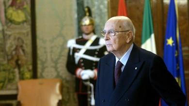 """L'annuncio di Napolitano    video     """"Imminente fine del mio mandato"""""""