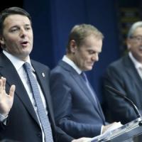"""Ue e flessibilità, Renzi: """"Un piccolo passo per l'Italia, un grande passo per l'Europa"""""""