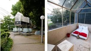 Creatività dai rifiuti: stanze d'albergo con i materiali di scarto