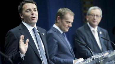 """Vertice Ue , ok piano Juncker da giugno   Renzi: """"Direzione giusta""""   video     foto"""