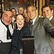 """""""Downton Abbey"""" Il selfie di Clooney    video"""