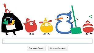 L'inverno comincia su Google Un doodle animato per il solstizio