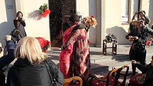 Matrimonio 'fuori' dal Comune dopo il terremoto nel Chianti