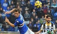 L'Udinese si illude   Gol     foto   Pari Samp con Gabbiadini