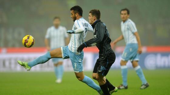 Inter-Lazio 2-2, Kovacic e Palacio rispondono a un super Felipe Anderson