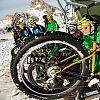 In bici sulla neve le discese più ardite