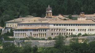 """Lazio, """"Salvate  la Certosa di Trisulti"""" Anche Vincenzo Nibali  nella protesta a pedali    foto"""
