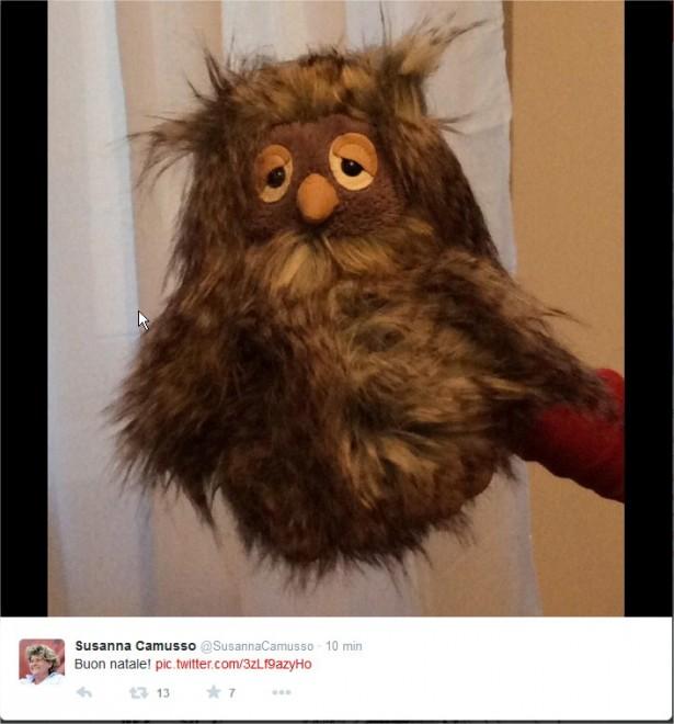 Tweet di Susanna Camusso: auguri con il gufo